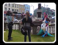 Filming in Portrush